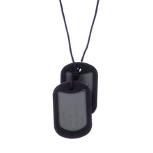 Load image into Gallery viewer, Chewbeads Dog Tag Teething Necklace - Black