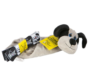 Dog Crinkle Cuddler with Matching Baby Paper Gift Set