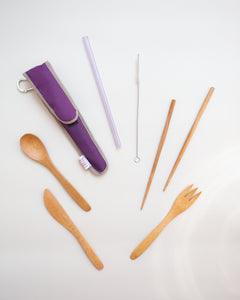 Reusable Utensil Kit - Choose Your Straw Color