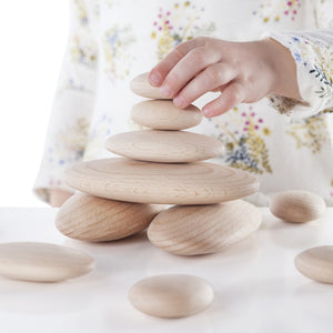 River Stones Wood Stackers
