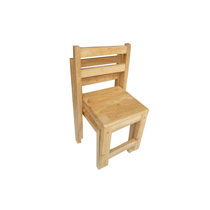 Standard Rubberwood Chairs - Set of 2