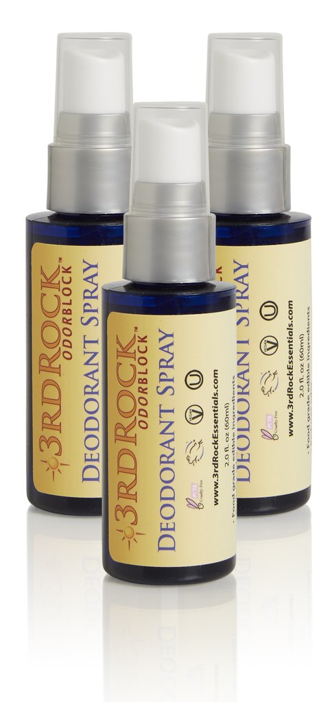 ODORBlock™ Body Deodorant Talc-Free, Aluminum-Free, Paraben-Free and Fragrance-Free (3-pack)