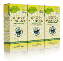 Load image into Gallery viewer, 3rd Rock Sunblock® Sunscreen Lotion - Aromatherapeutic - Zinc Oxide 35 SPF (3-pack)