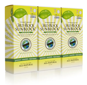 3rd Rock Sunblock® Sunscreen Lotion - Aromatherapeutic - Zinc Oxide 35 SPF (3-pack)