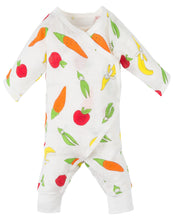 Load image into Gallery viewer, Muslin Side Snap Kimono - Fruit & Veggie Print