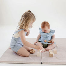Load image into Gallery viewer, Stripe in Light Grey Play Mat - Standard Size