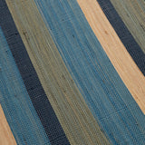 Raffia Table Runner Blue | DARA Artisans