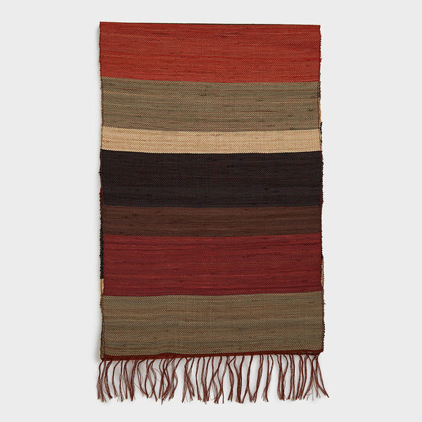 Raffia Table Runner Rust | DARA Artisans