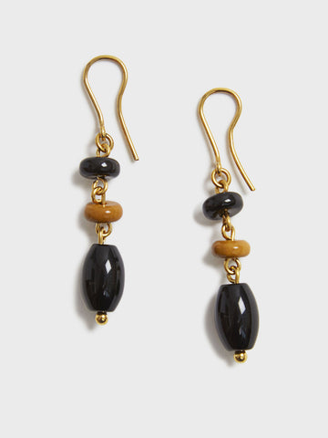Sodalite and Onyx Earrings