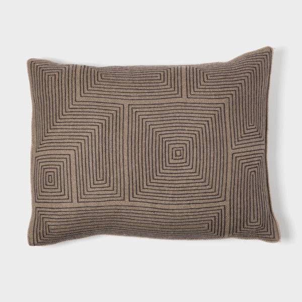 Geometric Embroidered Pillow by Armand Diradourian | DARA Artisans
