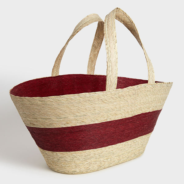 Small Palm Market Bag Burgundy | DARA Artisans