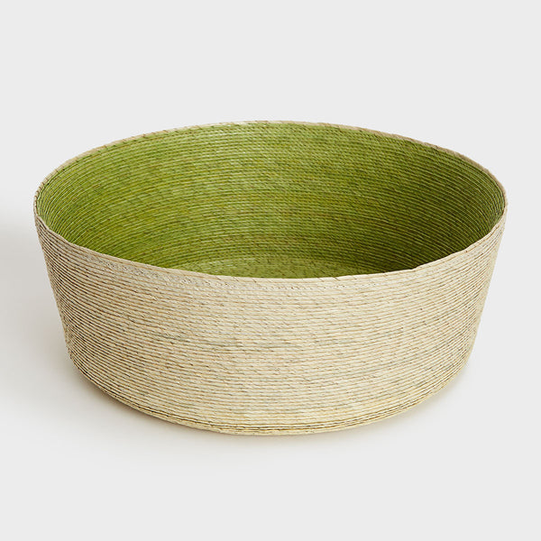 Green Palm Leaf Basket by Makaua | DARA Artisans