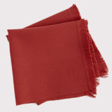 Red Fringe Napkins - Set of 4