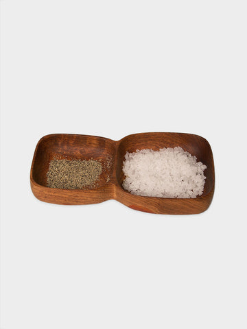 Wooden Salt & Pepper Dish
