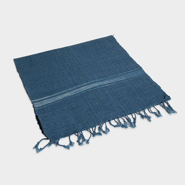 Indigo Fringe Table Runner