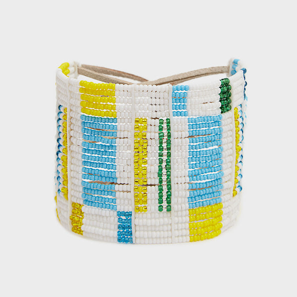 Beaded Leather Cuff | DARA Artisans
