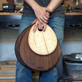 Small Teardrop Walnut Cutting Board by Dominik Woods | DARA Artisans
