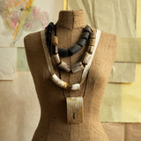 Chunky Biege Horn Necklace by CATHs | DARA Artisans