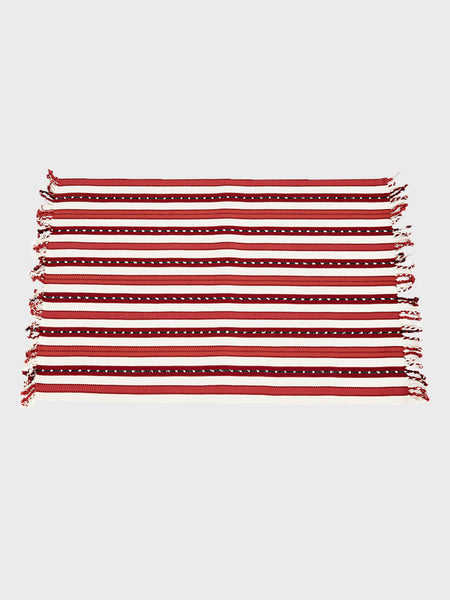 Guatemalan Red Striped Placemat Set Of 4 By Colibri