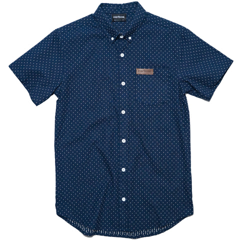 Beeline Short Sleeve Woven in Deep Navy - Overthrow Clothing  - 1
