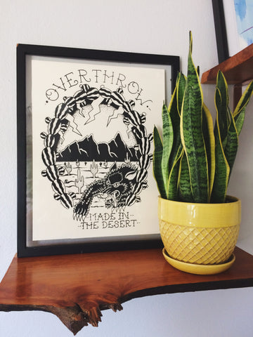 MADE IN THE DESERT Screen Printed Poster
