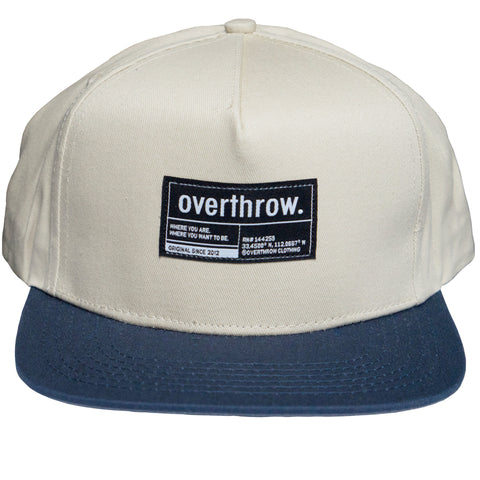 Label Snapback in Navy - Overthrow Clothing  - 1