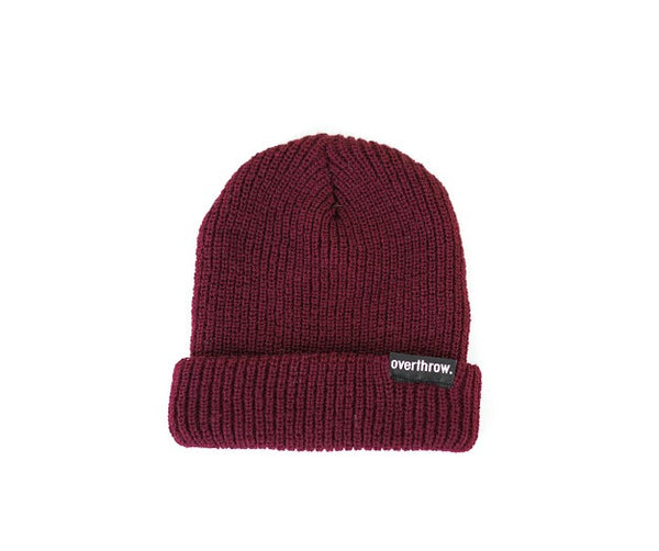 Scoundrel Beanie in Burgundy - Overthrow Clothing  - 2