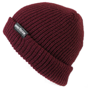 Scoundrel Beanie in Burgundy - Overthrow Clothing  - 1