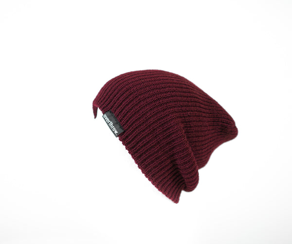 Scoundrel Beanie in Burgundy - Overthrow Clothing  - 3