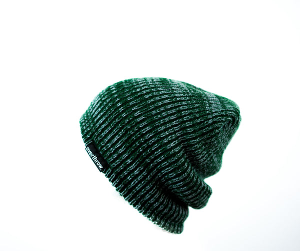 Scoundrel Beanie in Forest Marl - Overthrow Clothing  - 4