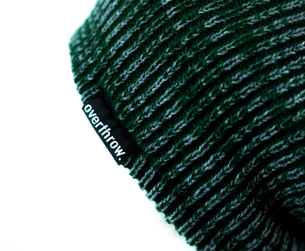 Scoundrel Beanie in Forest Marl - Overthrow Clothing  - 3