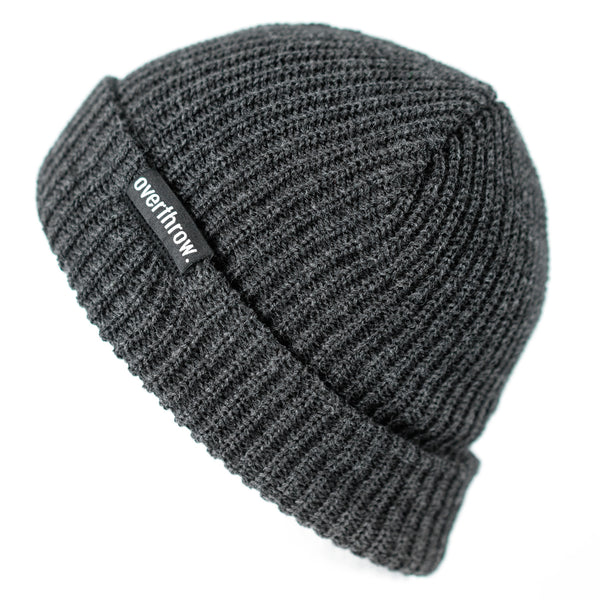 Scoundrel Beanie in Charcoal - Overthrow Clothing  - 1