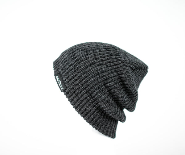 Scoundrel Beanie in Charcoal - Overthrow Clothing  - 3