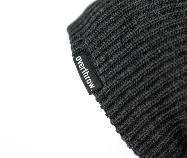 Scoundrel Beanie in Charcoal - Overthrow Clothing  - 4