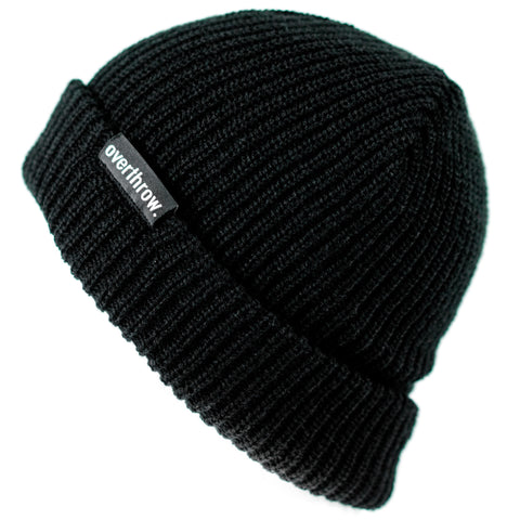 Scoundrel Beanie in Black - Overthrow Clothing  - 1