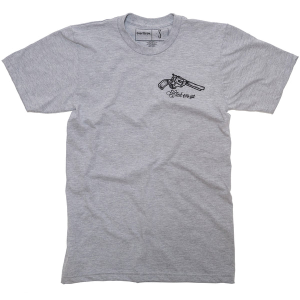 Stick 'Em Up Tee- Heather Grey