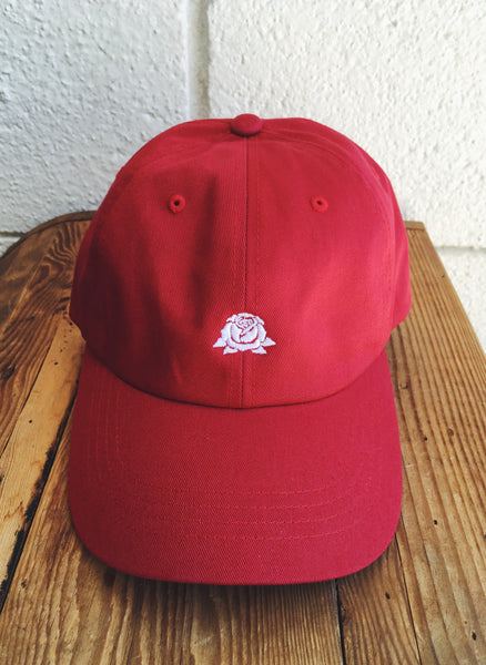 Rose Dad Hat- CRANBERRY