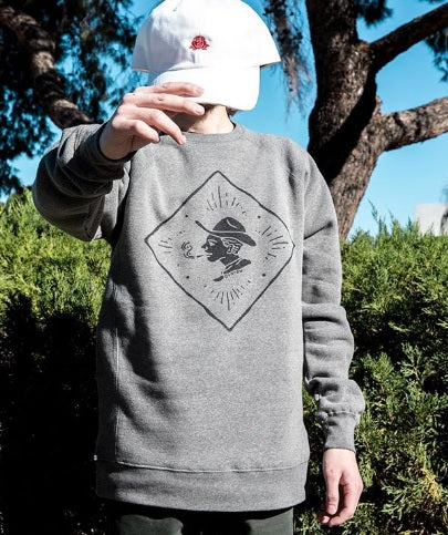 Skull and Rose Crewneck - Overthrow Clothing  - 1