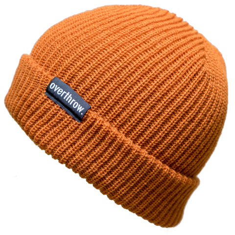 Scoundrel Beanie in Burnt Orange - Overthrow Clothing  - 1