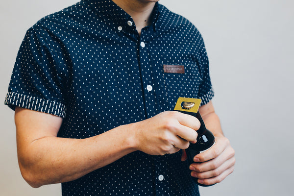 Beeline Short Sleeve Woven in Deep Navy - Overthrow Clothing  - 2