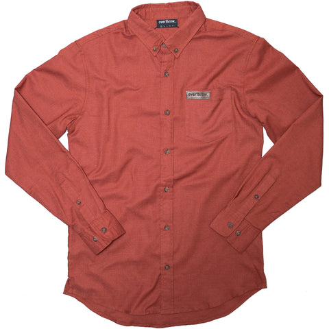 Weldon Long Sleeve Woven in Rust - Overthrow Clothing  - 1