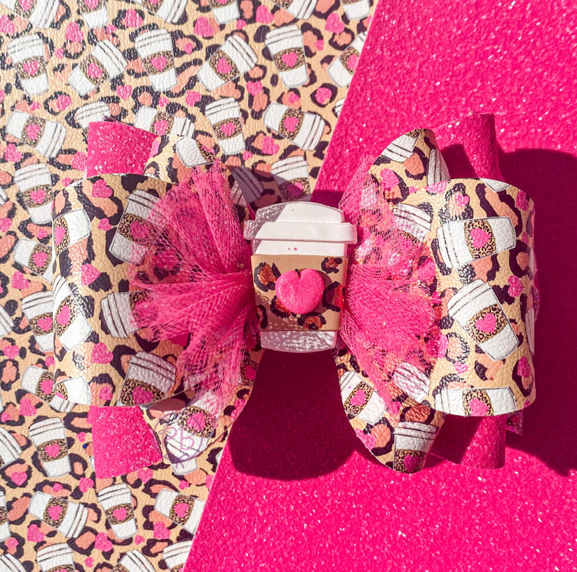 It's a Latte Pink Shaker Bow