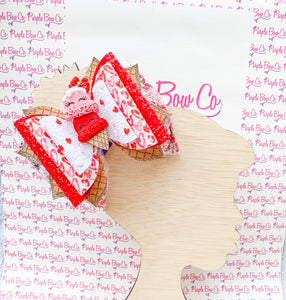 Ice Cream Love Shaker Bow