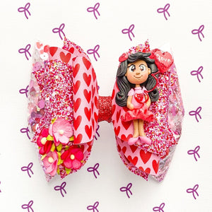 Red Hearts Shaker Bow