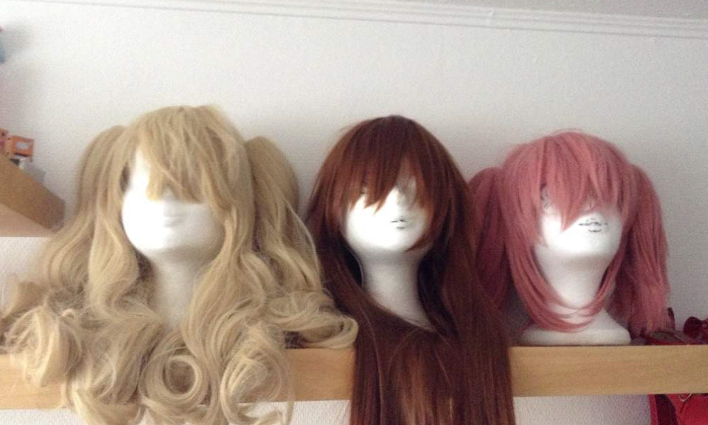 A wig stand for styling