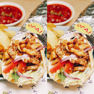 2 Chicken Gyros (Buy 1, Get 1 50% OFF)