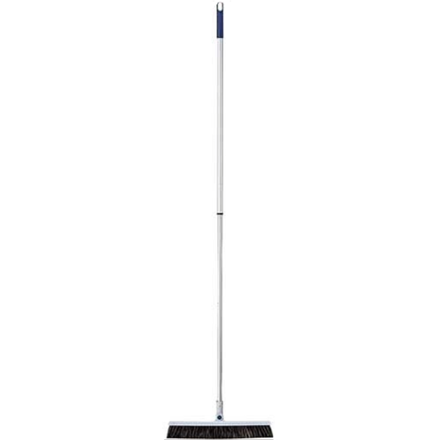 Crimador Swivel Base Lightweight Extendable Handle Horsehair Broom