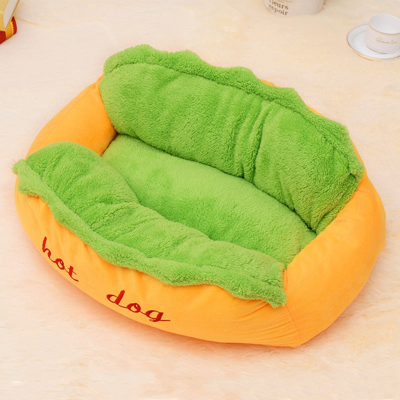 Hot Dog Puppy Warm Soft Bed House