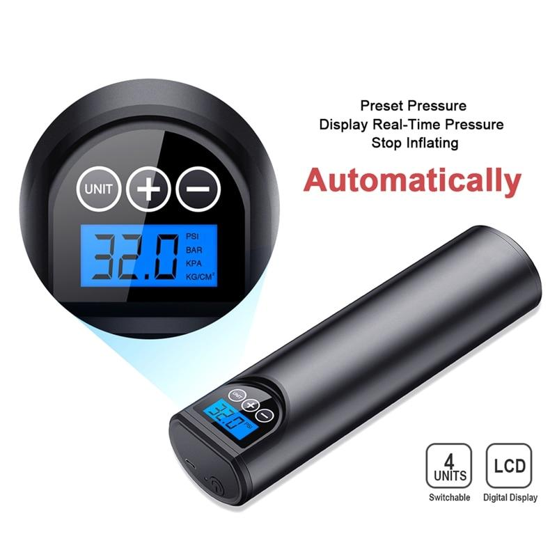 Electric Air Pump with Tire Pressure LCD Display