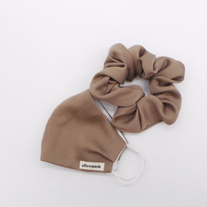 The Deluxe Mocha Scrunchie